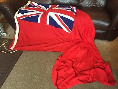Vintage Large Sewn Ships Red Ensign Flag Maritime Marine Nautical Boat Yacht