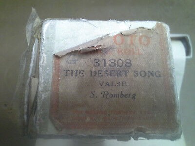 Meloto 88-note PIANOLA ROLL~THE DESSERT SONG~VALSE~ see photos