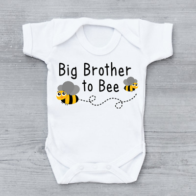 Big Brother To Bee Pregnancy Announcement New Arrival Boys Baby Grow Bodysuit