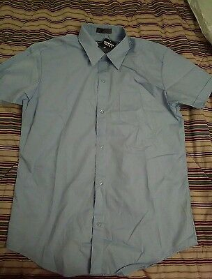 French Toast School Uniform blue short Sleeve button down Shirt Size 20 NWT ""