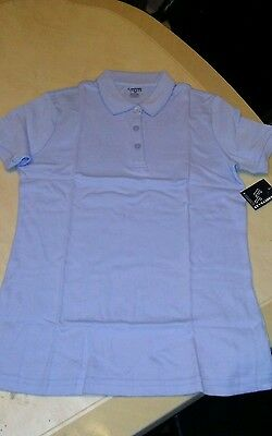French Toast School Uniform girl blue short Sleeve button down Shirt Size 20NWT
