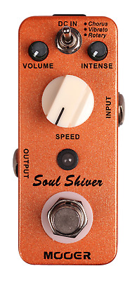 Mooer Soul Shiver Chorus / Vibrato Mini Effects New Auth Dealer Free Shipping!!