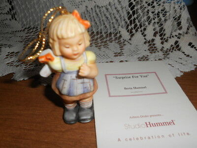 Berta Hummel 1997 Christmas Ornament  - Surprise for You  - with Card