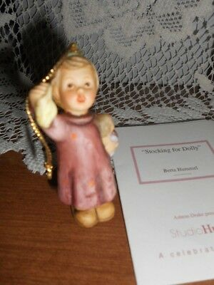 Berta Hummel 1997 Christmas Ornament  - Stocking for Dolly  - with Card