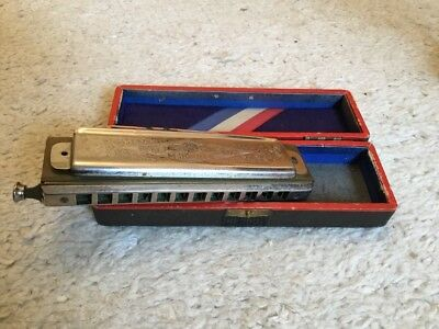 HOHNER ''The SUPER  CHROMONICA CHROMATIC C MUNDHARMONIKA NO.260 1/2