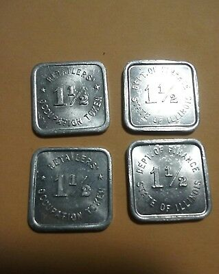 ILLINOIS Dept of Finance Retailers Occupation Tax Tokens
