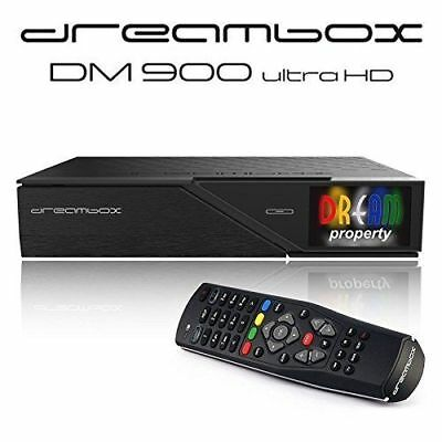 Dreambox DM900 Ultra HD 4K E2 Linux PVR IP Sat Receiver TWIN DVB-Neu-OVP.