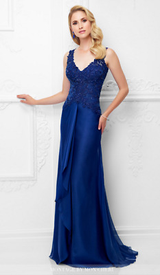 Montage by Mon Cheri Gown- 117909, Sapphire, Size 18, NWOT