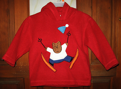*Cute!* Toddler Boy's Baby Gap Pullover Fleece Skiing Sweater, Size 12-18 Months