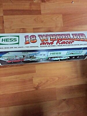 1992 Hess Toy Truck - 18 wheeler and racer~ New in Box