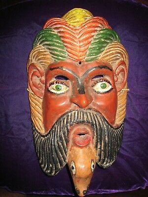 Mexican Wood Mask Mid 20th Century