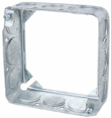 Steel City 53151 1/2 3/4 Pre-Galvanized Steel Square Box Extension Ring with ...