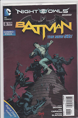 BATMAN #8 COMBO PACK New 52 Snyder Capullo DC Sold Out Key Issue 1st Print
