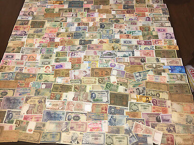 Large Bulk Paper Money Lot 500+ Ungraded World Banknotes (Old Foreign Currency)