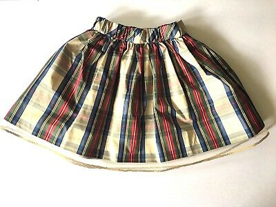 New $59 J. Crew Crewcuts Girls 4 5 Festive Holiday Plaid Skirt Tulle Fancy Twins