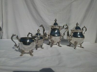 English Silver MFG Corp Tea Set Creamer and Sugar