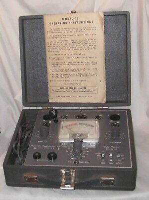Accurate Instrument Co. Tube Tester Model 151 w/Instructions Manual TESTED WORKS