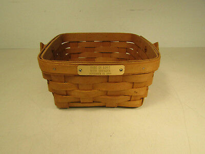 1994 Signed Dated Longaberger Fall In Love W/ Dresden Basket W/ Handle