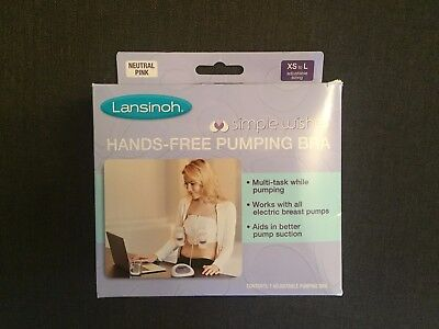 Lansinoh Hands Free Pumping Bra - BRAND NEW IN BOX - One Size (XS-L) Adjustable