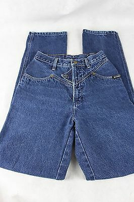 "VINTAGE ROCKIES Jeans High Rise Waist Western Cowgirl size 26 / 3  (33"" Ins) GUC"