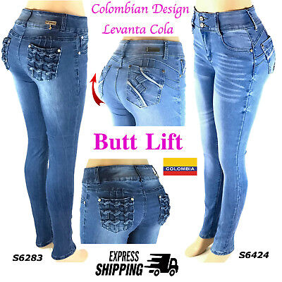 ButtLift Push Up Authentic Levanta Cola Sexy Jeans Colombian Design