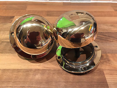 Pair Vintage Ships Mushroom Air Vents Maritime Marine Nautical Boat