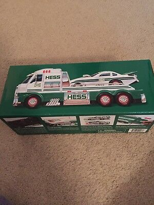 2016 Hess Truck with Dragster  New in Box!   Never opened