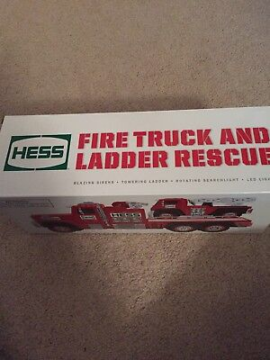2015 Hess Toy Fire Truck and Ladder Rescue NIB