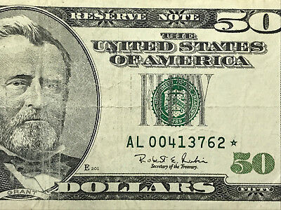 1996 $50* Low serial number STAR NOTE $50 FRN - collector item
