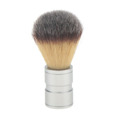 Men's Facial Shaving Nylon Hair Brush Alloy Handle Shave Tool Beard Clean