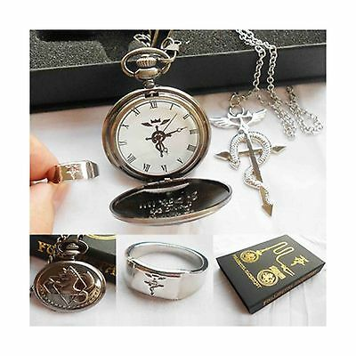 POCKET WATCH NECKLACE RING In Box FREE SHIPPING