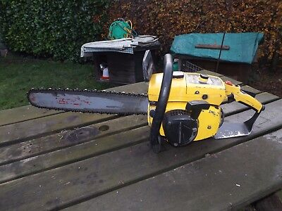 old McCullough pro mac 570 20 inch bar chainsaw working