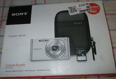 New Sony Cyber-Shot Dsc-W830 Digital Camera Bundle - Silver