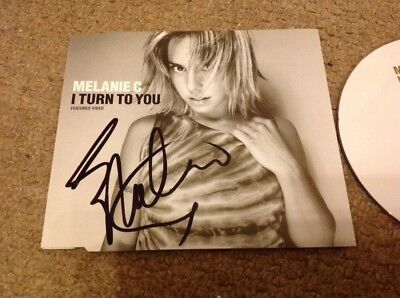 Melanie C   -  Turn   Spice Girl   Signed  Uk  Cd Ep  - Authentic - Uacc - Coa