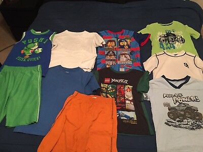 Lot of 11 Mixed Tops and Shorts Boys Play Clothes Size 7-8