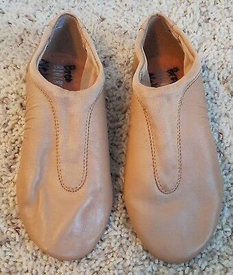 Bloch Pulse Girl's Tan Jazz Shoes Size 4 (SO470L)
