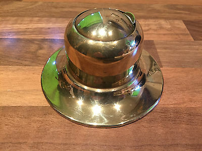Vintage Brass Ships Captains Inkwell Maritime Marine Nautical Boat