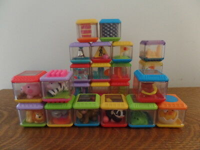Lot of 23 Miscellaneous Fisher Price Peek a Blocks : Animals Puzzle Beach