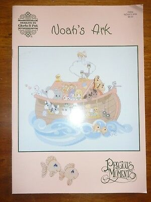 Cross Stitch Pattern Book-Designs By Gloria & Pat-Noah's Ark - Precious Moments