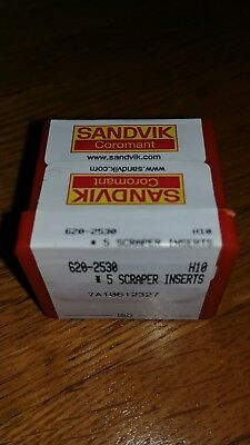 Box of 5 sandvik scraper blades! 620-2530 NEW!!!!