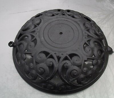 Large Antique Ornate Cast Iron Pot Belly Stove Finial Base Only G 28 35 -95
