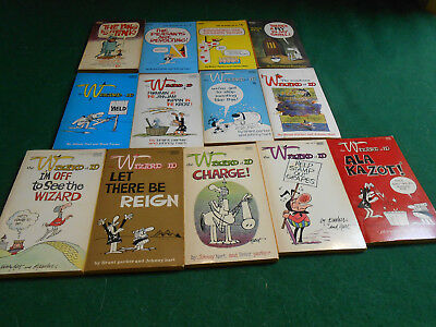 14 1969-1979 THE WIZARD OF ID Vintage Comic Strip PAPERBACK BOOKS Parker/Hart