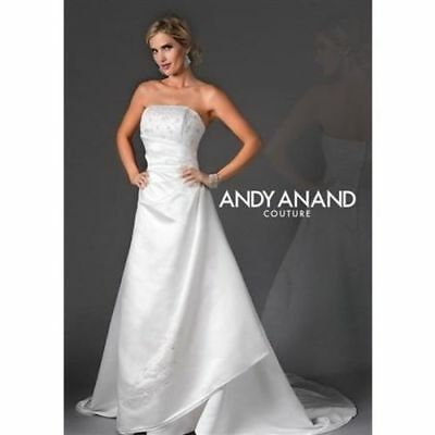 Andy Anand Couture Mock Wrap Bridal Gown