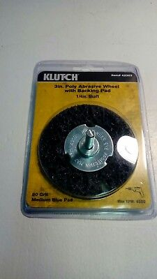 """Klutch 3"""" Poly Abrasive Wheel with Backing Pad - 20 Pack Bundle"""
