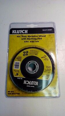 """Klutch 4"""" Abrasive Wheel with Backing Pad - 20 Pack Bundle"""