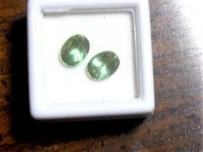 Zandrite color change stones set of 2  8 x 6 mm oval shaped 5 carats