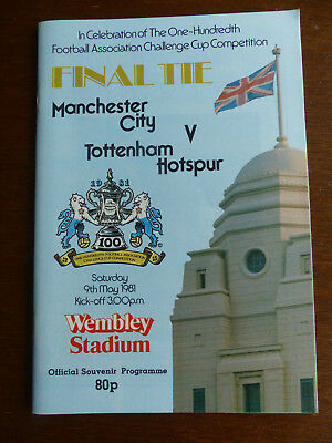 FA Cup Final Programme - Manchester City v Tottenham Hotspur - 9th May 1981