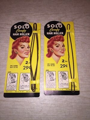 Solo Comfy Hair Roller 40s 50s Hairstyle Accessory 1 pack of 2, 1 of 1