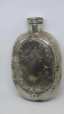 Edwardian Whisky Whiskey Silverplate Hip Flask for the Gentleman Tippler!