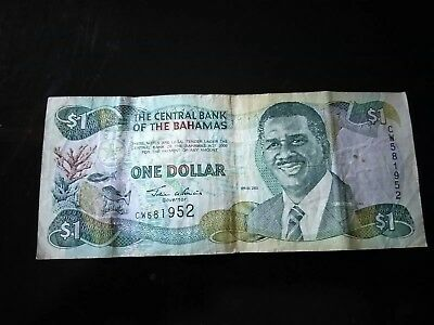 World Paper Money - Bahamas 1 Dollar 2001